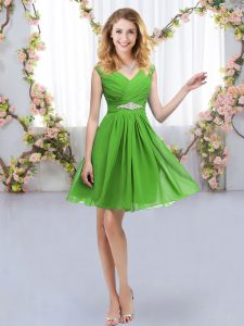 High Quality Mini Length Empire Sleeveless Quinceanera Dama Dress Zipper