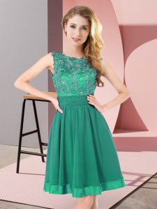 Glorious Sleeveless Beading and Appliques Backless Dama Dress for Quinceanera