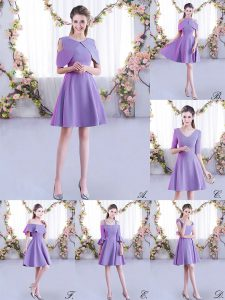 Unique Pink Half Sleeves Mini Length Ruching Zipper Court Dresses for Sweet 16