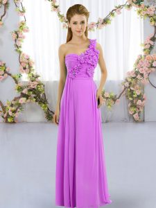 Stunning Sleeveless Lace Up Floor Length Hand Made Flower Court Dresses for Sweet 16