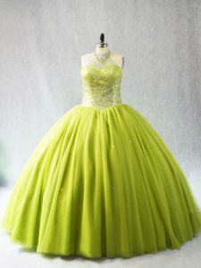Custom Designed Tulle Sleeveless Quinceanera Dresses and Beading