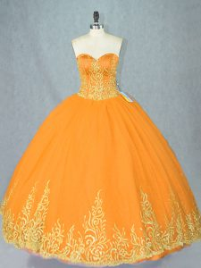 Simple Gold Vestidos de Quinceanera Sweet 16 and Quinceanera with Beading Sweetheart Sleeveless Lace Up