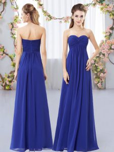 Floor Length Royal Blue Vestidos de Damas Sweetheart Sleeveless Zipper