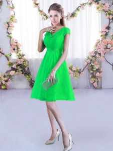 Lovely Green Cap Sleeves Lace Lace Up Court Dresses for Sweet 16 for Wedding Party