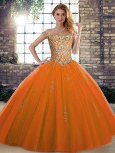 Wonderful Sleeveless Lace Up Floor Length Beading Sweet 16 Dress