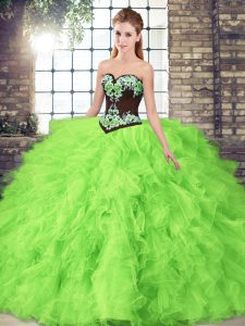 Floor Length 15 Quinceanera Dress Sweetheart Sleeveless Lace Up
