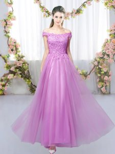 Sleeveless Lace Lace Up Quinceanera Court Dresses
