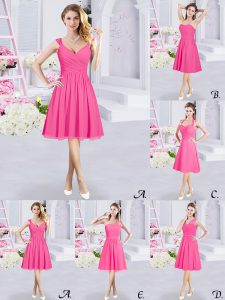 Modest Hot Pink Straps Zipper Lace and Ruching and Belt Court Dresses for Sweet 16 Sleeveless