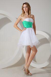 Sleeveless Zipper Mini Length Beading Vestidos de Damas