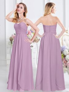 Pretty Floor Length Empire Sleeveless Lavender Court Dresses for Sweet 16 Zipper