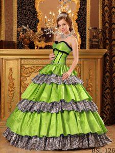 Sweetheart Floor-length Taffeta Fashionable Sweet 16 Dresses in Green