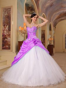 Elegant Sweetheart Tulle and Taffeta Quinceanera Dress with Beading on Sale
