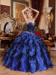 Multi-Colored Beading Sweet Sixteen Dresses with Sweetheart and Ruffles 2013