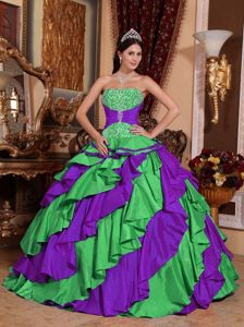 Perfect Muti-Color Ball Gown Sweet 16 Dresses with Embroidery
