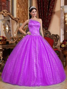Sweet Sixteen Quince Dresses with Beading and One Shoulder on Sale