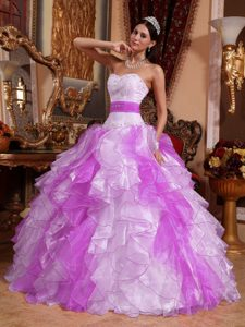 Multi-color Beaded and Ruched Luxurious Quinceaneras Dress for Spring
