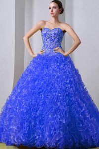 Beaded and Ruffled Memorable Sweet Sixteen Dresses with Brush Train
