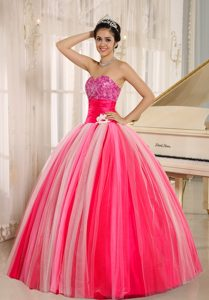 2014 Wonderful Tulle Lace-up Spring Quinceanera Dresses in Multi-color