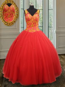 Best Selling Sleeveless Beading and Appliques Zipper Sweet 16 Dresses