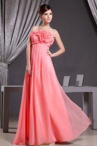Watermelon Chiffon Dama Dresses with Flower for Wholesale Price
