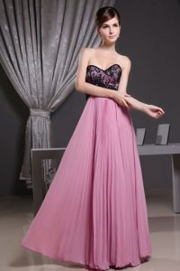 Custom Made Sweetheart Rose Pink Quince Dama Dresses with Pleat