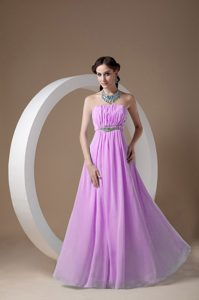 Exquisite Rose Pink Chiffon Beaded Quinceanera Damas Dress with Ruches