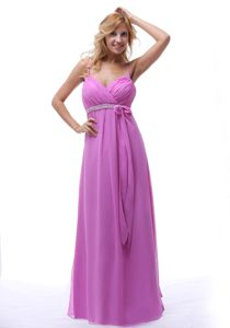 2013 Lavender Spaghetti Ruched and Beaded Classical 15 Dress for Damas