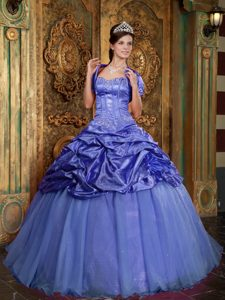Sweetheart Cute Appliqued Sweet Sixteen Quinceanera Dress in Purple