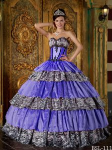 Sweetheart Affordable Ball Gown Quinceanera Dress with Ruffles
