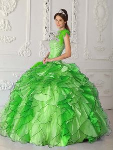 Strapless Sweet 16 Dresses in Satin and Organza for Custom Made