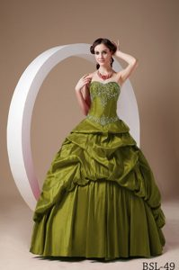 Floor-length Sweetheart Pick-ups Appliques Dress for Quinceaneras