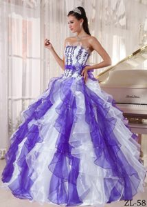 Satin Lace-up Beaded Organza 2013 Wonderful Dresses for Quinceanera