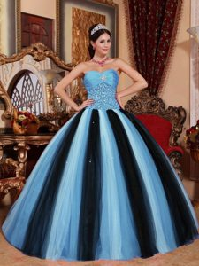 Multi-colored Ball Gown Beaded Quinceanera Dress with Heart Shaped Neckline