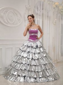 Popular Strapless Beaded Quinceanera Dress with Layers for Custom Made