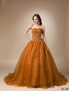 Glitz A-line Sweetheart Sweet Sixteen Quinceanera Dresses with Ruches and Beads