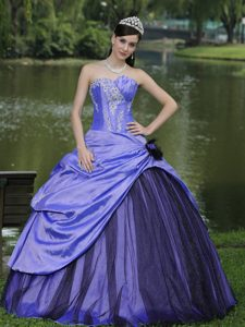 Purple Sweetheart Taffeta 2013 Dress for Quince with Beading Best Seller