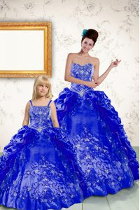 Sleeveless Beading and Embroidery and Pick Ups Lace Up Sweet 16 Quinceanera Dress