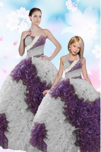 Sleeveless Beading and Sequins Lace Up Sweet 16 Dresses