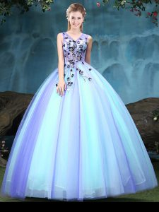 Customized Floor Length Ball Gowns Sleeveless Multi-color Sweet 16 Dresses Lace Up