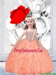 Pretty Straps Organza Mini Quinceanera Dresses with Beading