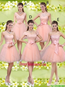 Suitable A Line Hand Made Flowers Dama Dresses with Appliques