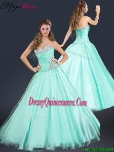 2016 Perfect Sweetheart Beading Dama Dress in Apple Green