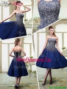 Luxurious Sweetheart Beading Dama Dresses for 2016