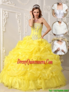 Classic Strapless Quinceanera Dresses with Beading and Ruffles