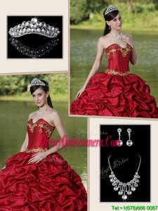 Luxurious Brush Train Sweet 16 Dresses with Appliques and Pick Ups