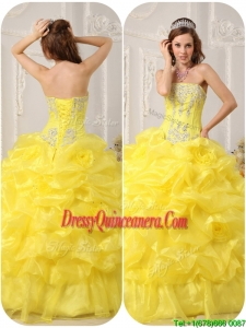 New Style Strapless Beading and Ruffles Quinceanera Dresses