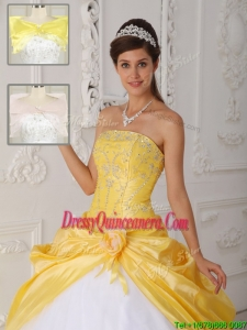 Cheap Strapless Sweet 15 Dresses with Appliques for 2016