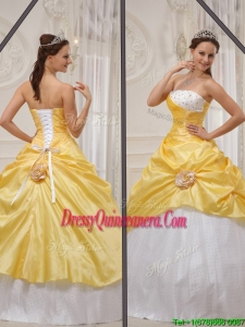 Modern Ball Gown Strapless Sweet 15 Dresses with Beading