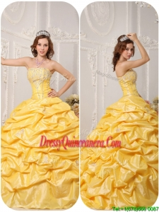 Pretty Ball Gown Pick Ups and Appliques Quinceanera Dresses