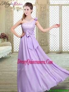 2016 Spring High Neck Lace Lavender Dama Dresses